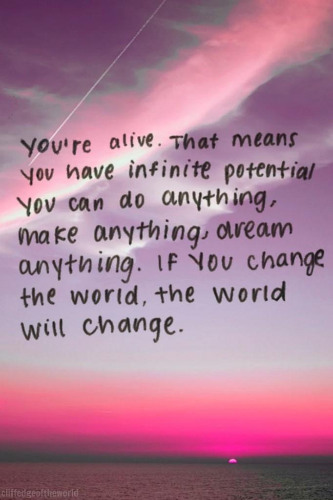 alive-infinite potential