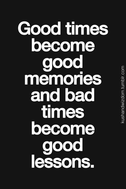 good times - bad times