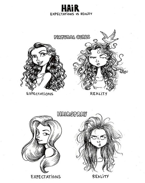 hair expectation - reality