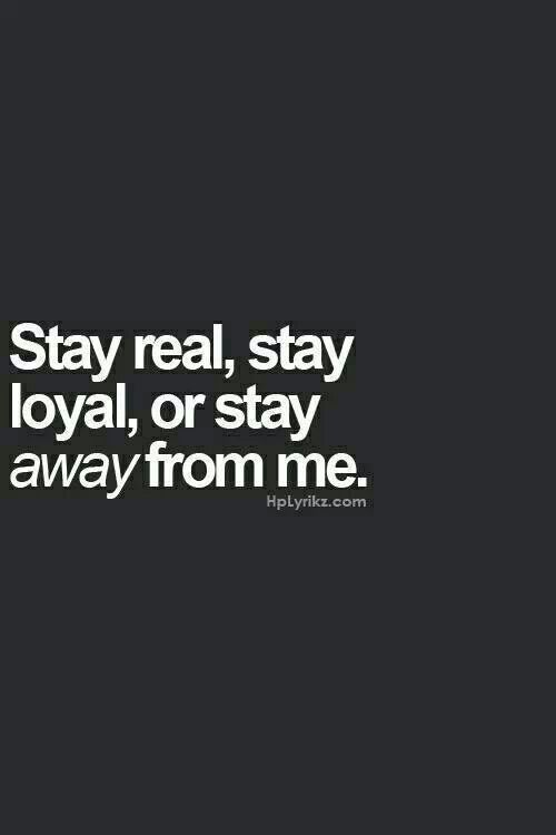 stay real - stay away