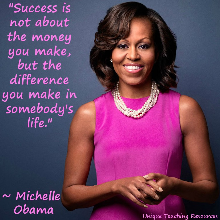 success-difference-Michelle Obama