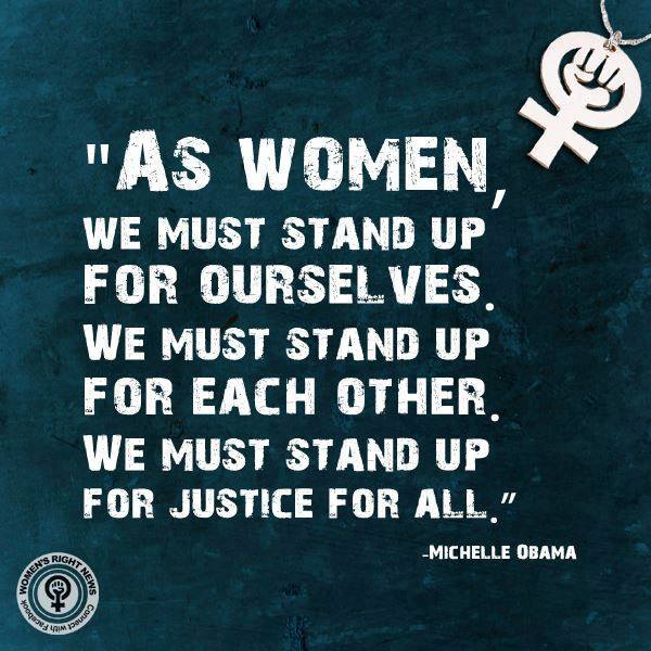women stand up Michelle Obama