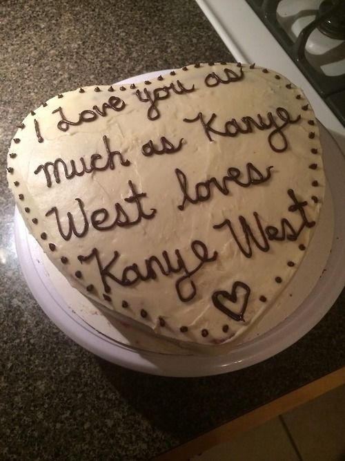 Kayne West love cake