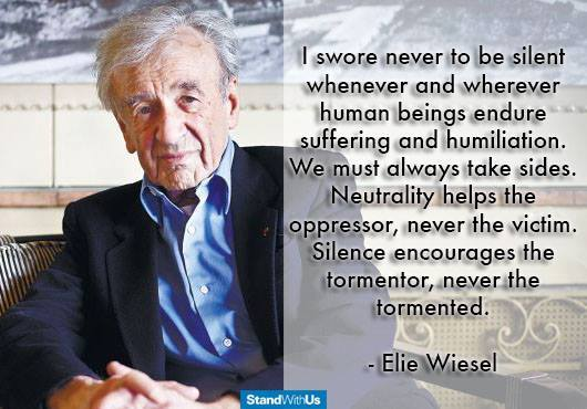never silent - Wiesel