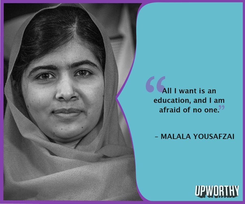 Malala afraid of no one