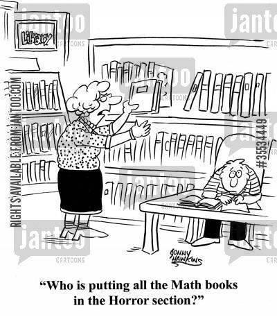 Math books - horror section