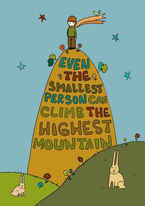 smallest person tallest mountain