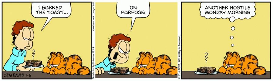 Garfield-burnt toast -Monday