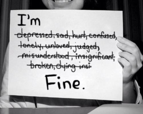 I am (NOT) fine