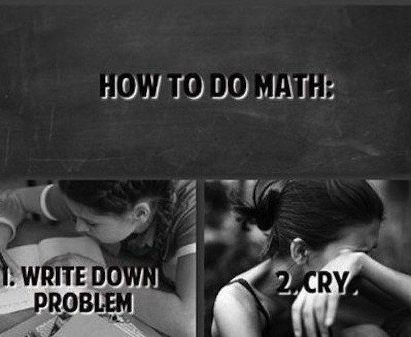Math problems - cry