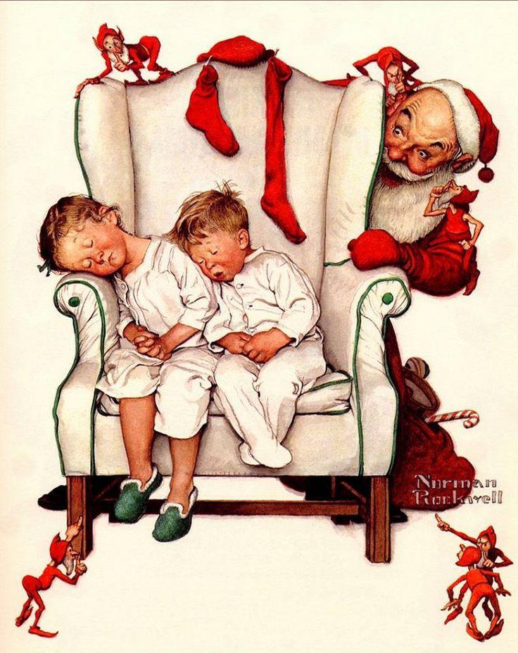 Rockwell night before Christmas
