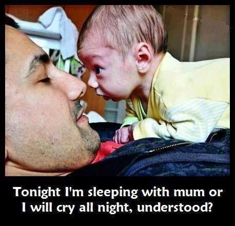 baby sleep mum cry