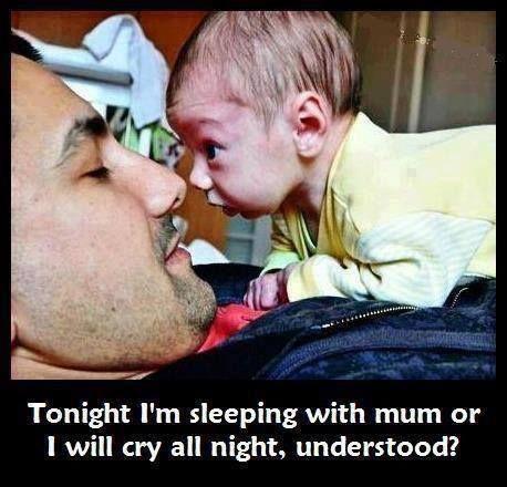 baby sleep mum cry