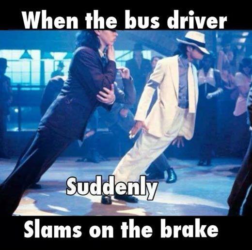bus driver brakes