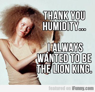 humidity - lion king