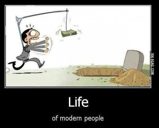 life of modern people -money-grave