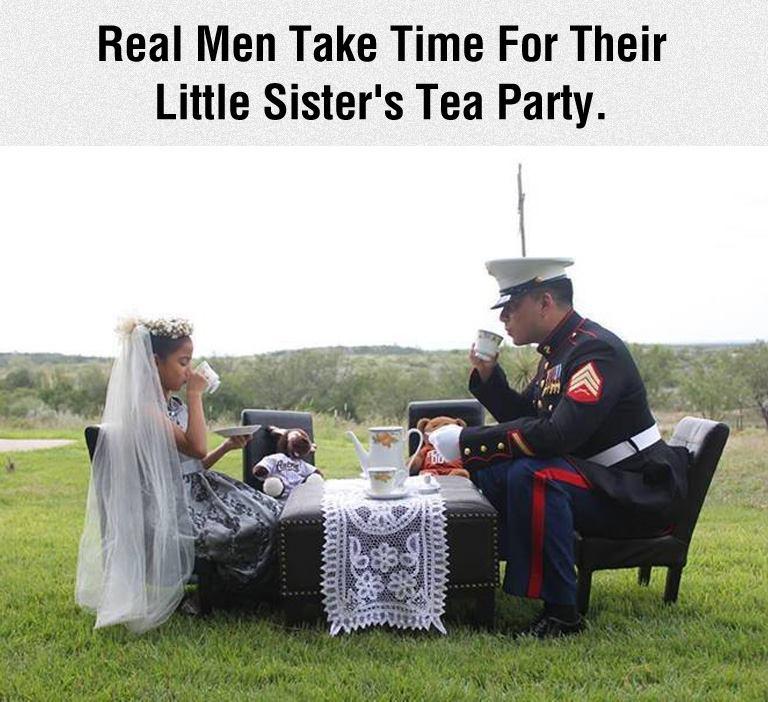 real men - sister tea party
