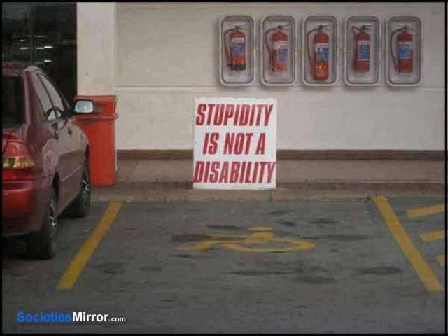 stupidity-not disability