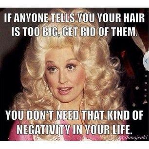 big hair - negativity