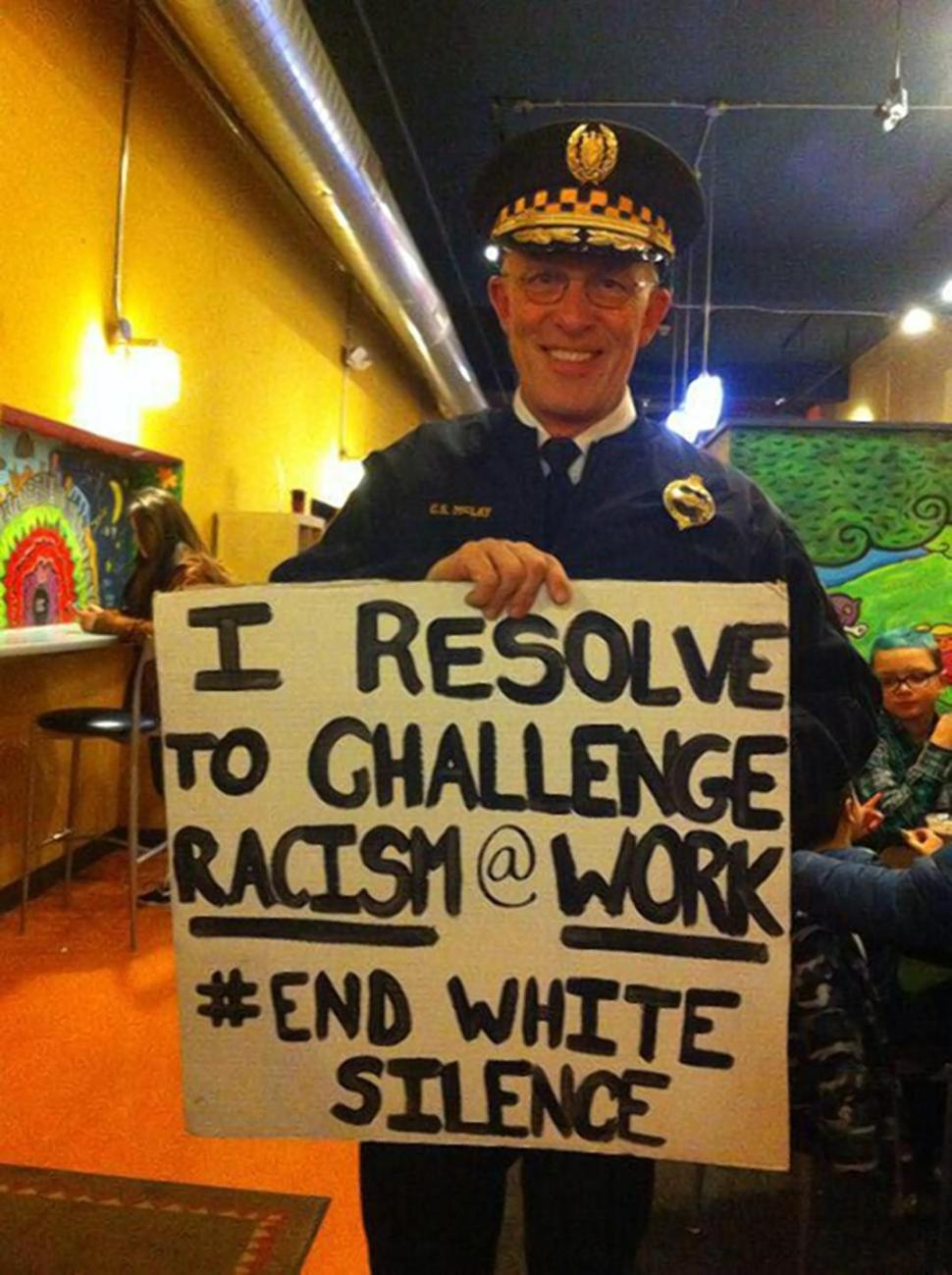 cop chief stop racism