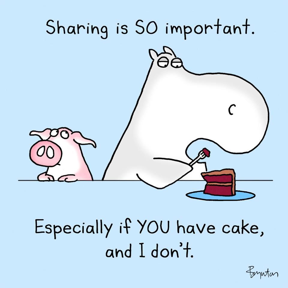 share cake