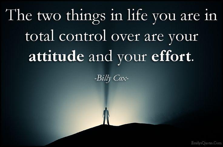 attitude -effort