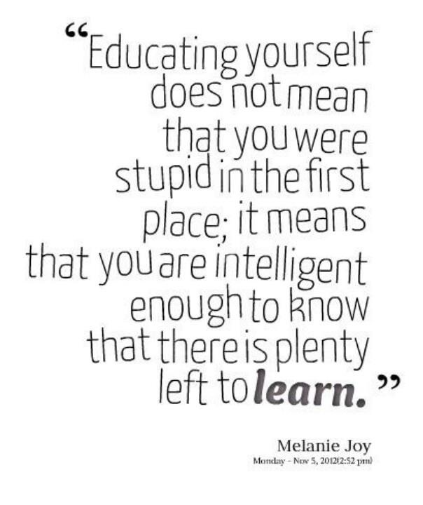 educating yourself