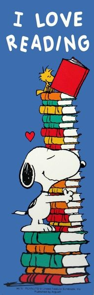 i love books snoopy