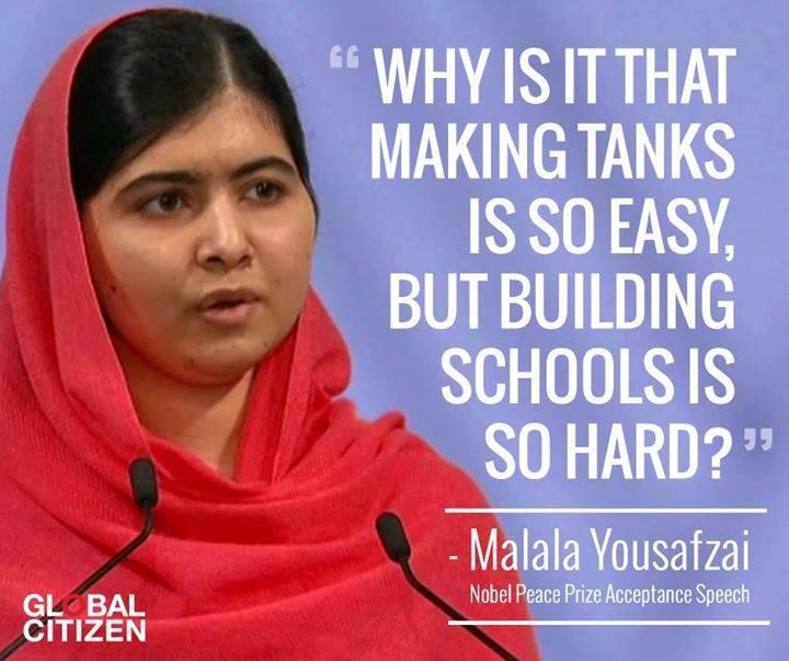 make tanks - build schools