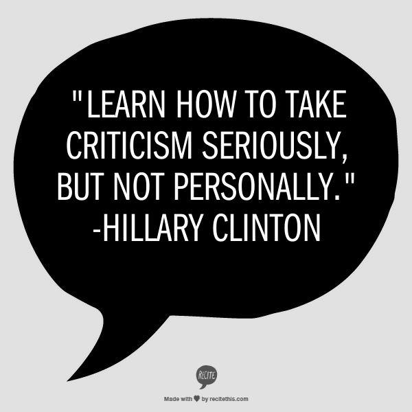 take criticism