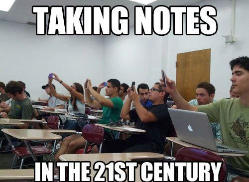 taking notes 21st century