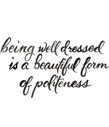 well dressed politeness