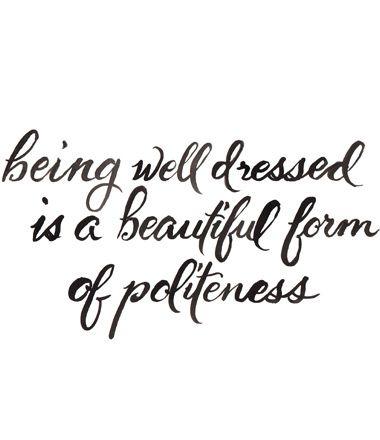 well dressed politeness