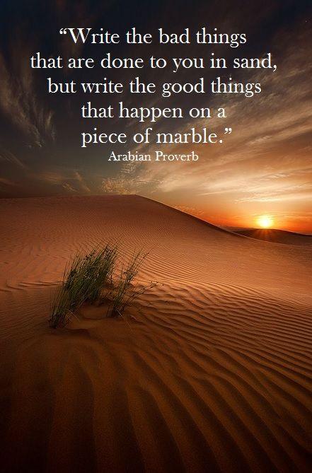 write bad sand good marble