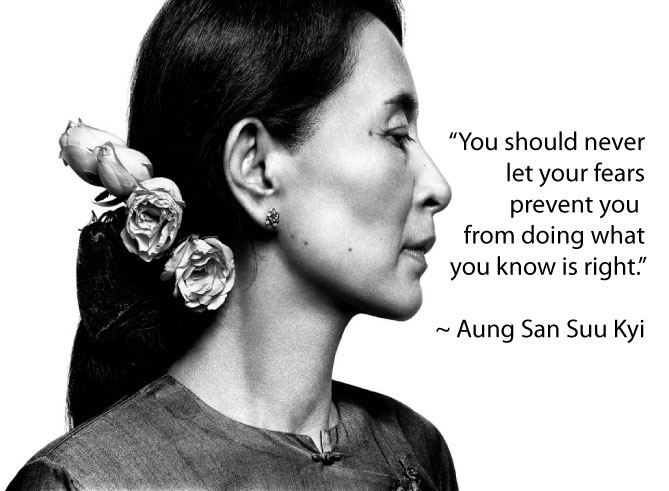 Aung San Suu Kyi never let prevent