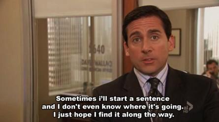 Michael start a sentence