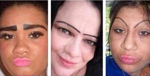 drawn eyebrows photos