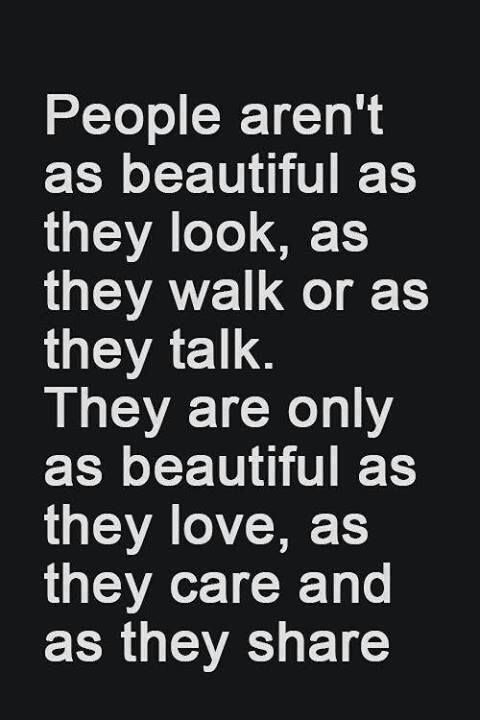 people are as beautiful as