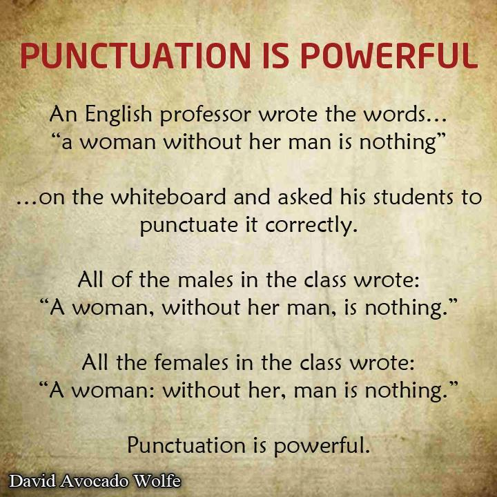 punctuation is powerful woman man
