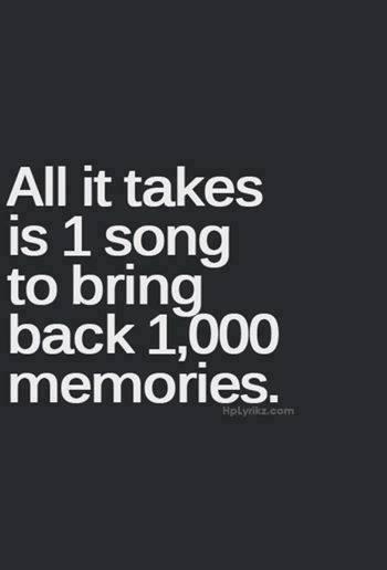 1 song 1000 memories