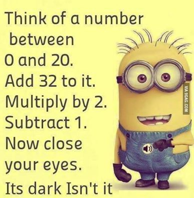 Minion add in your head close eyes dark