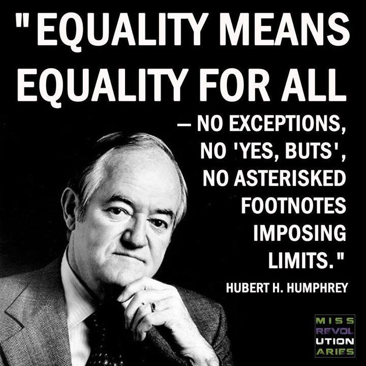 equality- no restrictions