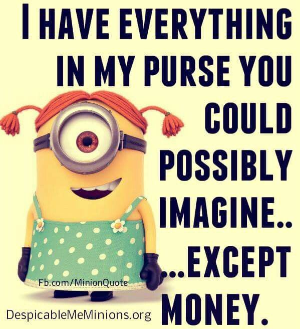 everything inp purse except money