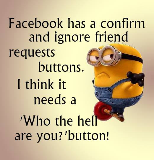facebook who are you button Minion