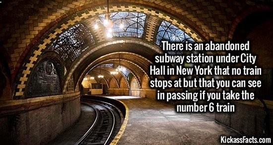 facts-NYC abandoned tube station