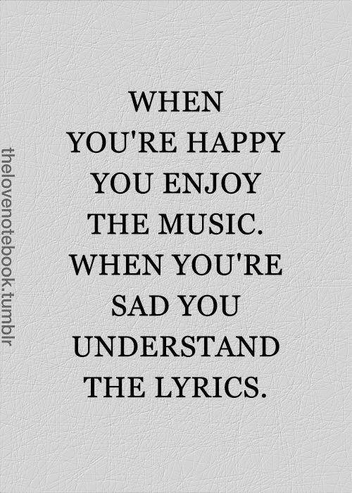 happy music - sad lyrics
