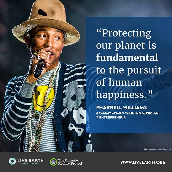 protecting planet happiness Pharrel Williams
