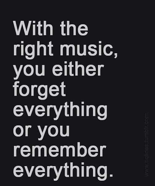 right music - remember - forget