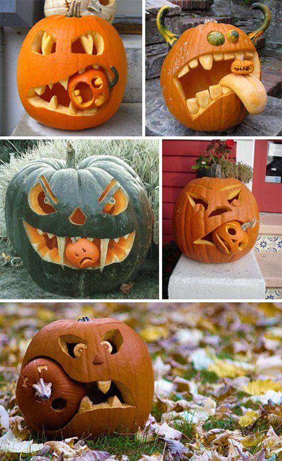 Halloween canibal pumpkins