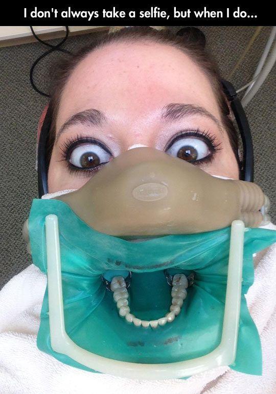 selfie dentist
